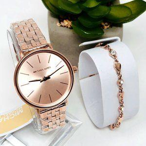 NWT MICHAEL KORS Mini Pyper Watch Gift Set MK4496